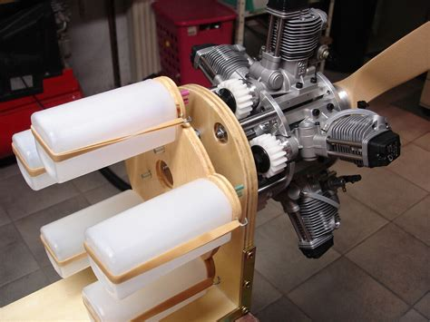 Handmade Engine - five cylinder radial engine from five os fs 70s