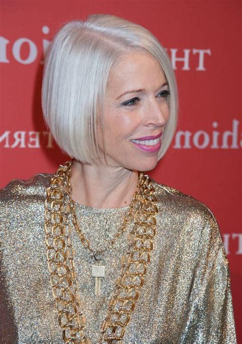 linda fargo platinum blond bob hairstyles  short hair