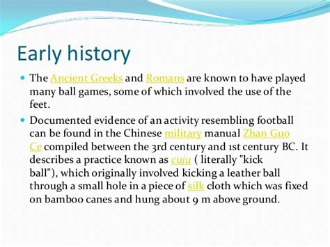 Essay About Soccer History by History Of Soccer Essay