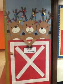Reindeer Door Decorations by Reindeer Door Door Decor Reindeer And Doors