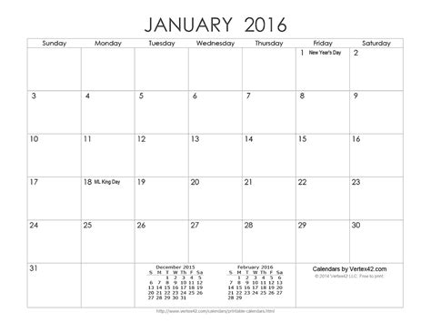 printable calendar vertex 2016 download the printable ink saver 2016 calendar