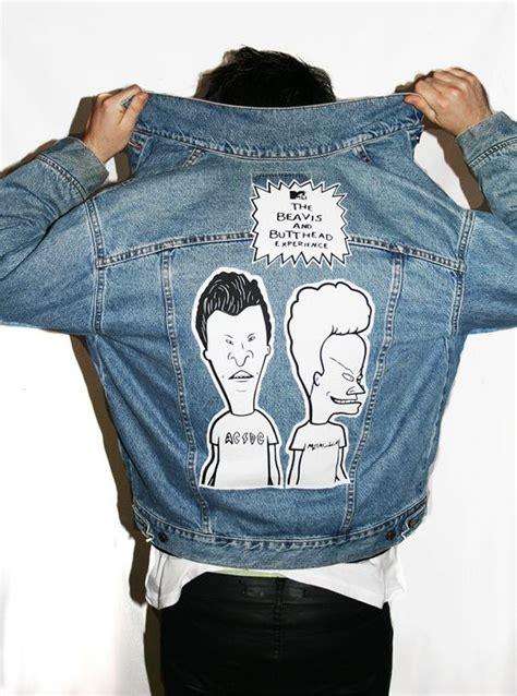 Jaket Lukis Levis beavis and butthead grunge 90s vintage denim levis jacket