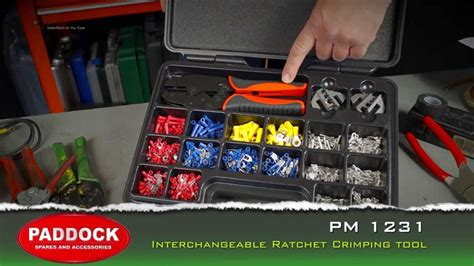 pm 1231 auto electrical interchangeable crimping tool