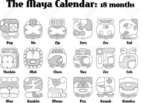 Signo No Calendã Maia 11408743 Calendar Stock Vector Mayan Symbols Jpg