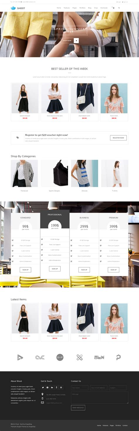 drupal themes multipurpose shoot multipurpose ecommerce drupal theme download new