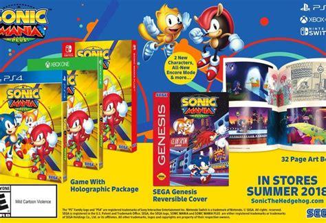 console e mania sonic mania plus annunciato ufficialmente su console