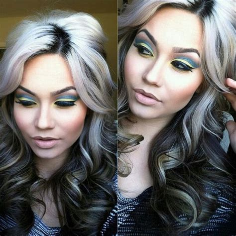 hilites for grey or white hair white grey highlights a hair affair pinterest