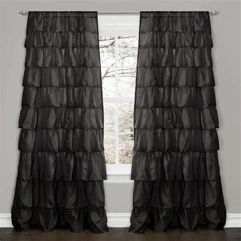 Ruffle Blackout Curtains Ruffle Blackout Panel Pottery Barn