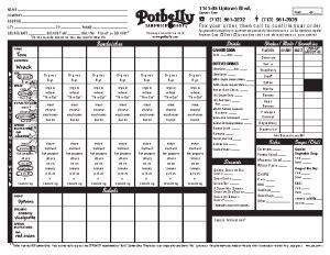 potbelly fax order form   job application form