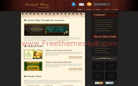 vintage black brown free css website template freethemes4all