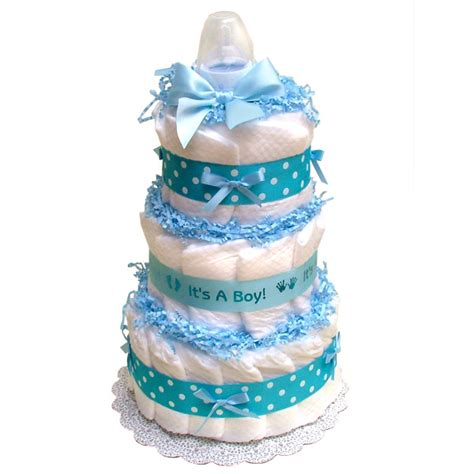 Butterfly Themed Baby Shower Diapers Cake   Baby Shower for Parents