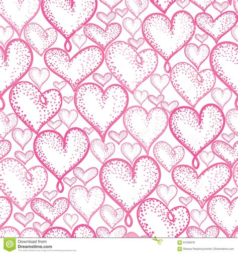 heart pattern repeat vector pink hearts seamless repeat pattern background