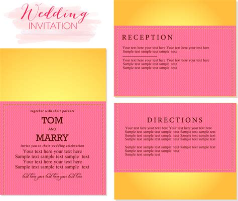 wedding invitation templates free vector in adobe