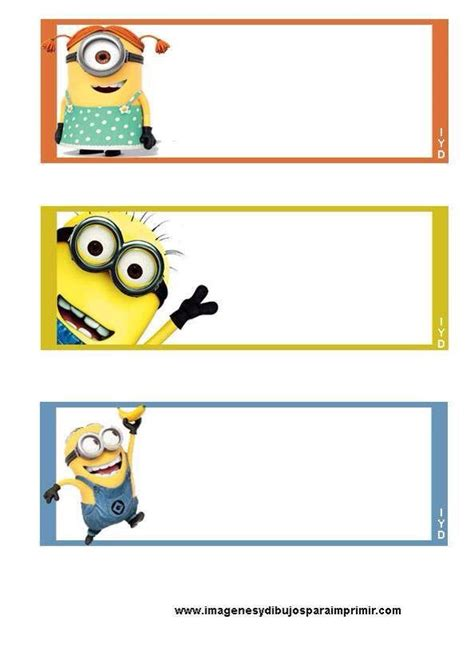 printable bookmarks minions 20 best notebook labels images on pinterest notebook