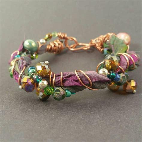 how to make ribbon jewelry best 25 sari silk ideas on fabric bracelets