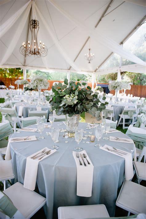 blue and white decor light blue and white outdoor reception decor elizabeth