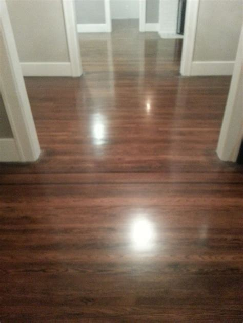 DIY refinishing hardwood floors. Ebony/red mahogany mix on
