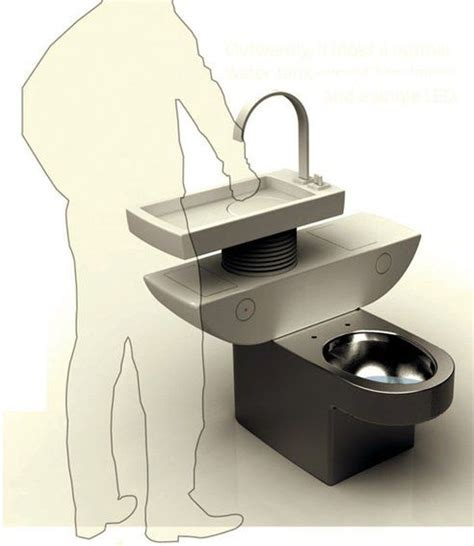 smart toilet sink combo uses greywater to flush