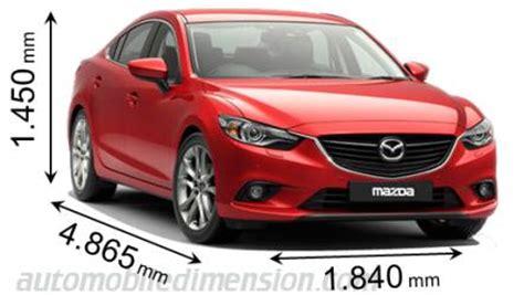 2014 mazda 6 dimensions abmessungen der mazda autos mit l 228 nge breite und h 246 he
