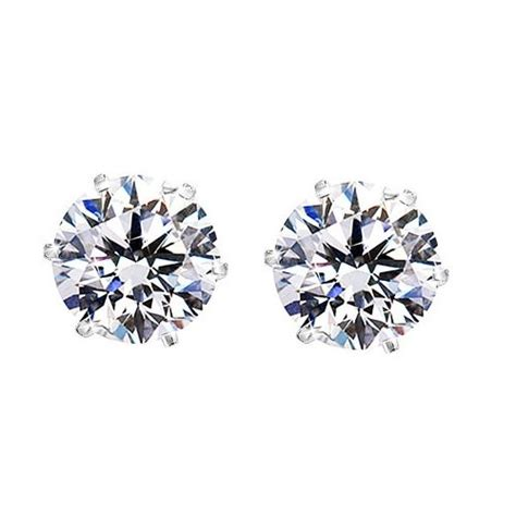 cut clear cz stainless steel magnetic stud