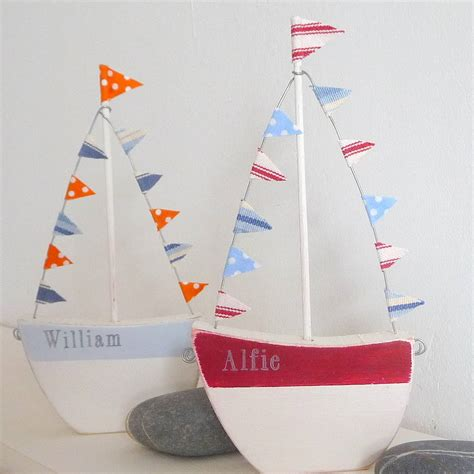 personalised boat with flags by rachel pettitt designs - Personalised Boat Flags