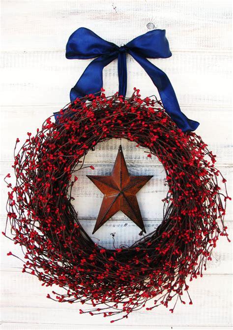 Patriotic Door Wreaths by Summer Wreath Primitive Patriotic Wreath Wreath Rustic