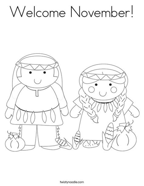 coloring page for november welcome november coloring page twisty noodle