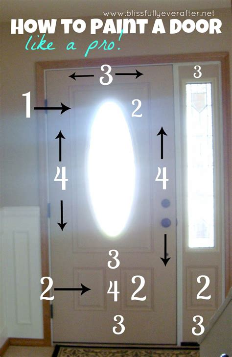 How To Paint A Door Without Brush Marks blissfully after how to paint a door without brush