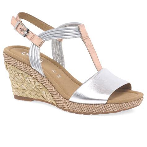 womens wedge slippers gabor jess womens casual wedge heel sandals charles clinkard