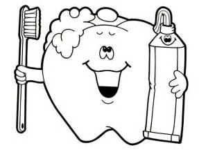brush our teeth colouring pages