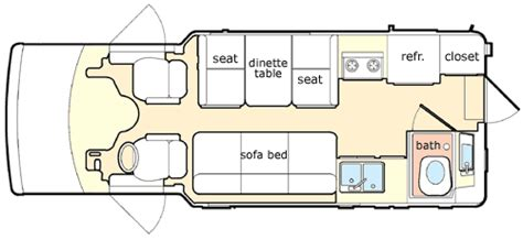 chinook rv floor plans 2004 chinook concourse class b rvweb com