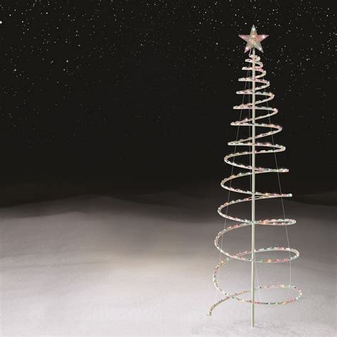 how many feet of lights for a 6 foot tall christmas tree trim a home 6 foot spiral tree with 250 multi color lights