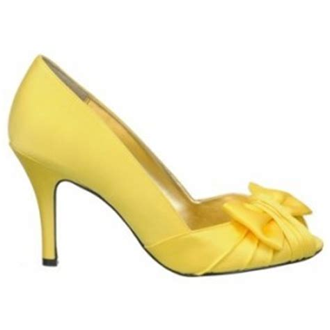 comfortable occasion shoes open toe yellow high heel shoes with front bow yellow heels