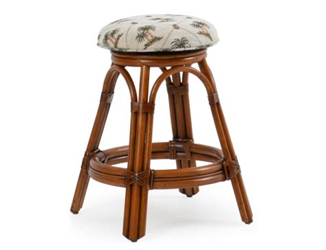 Wicker Backless Counter Stools by Bscs Backless Swivel Rattan Counter Stool