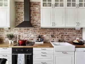 brick backsplashes for kitchens 30 super practical and really stylish brick kitchen