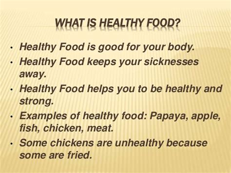 what is the healthiest food unhealthy food vs healthy food