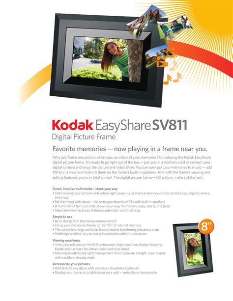 Download Free Pdf For Kodak Easyshare Sv811 Digital Photo