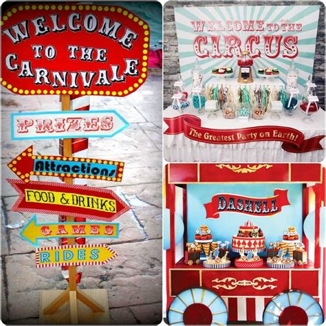 party themes in may carnival fair circus themed decorations include