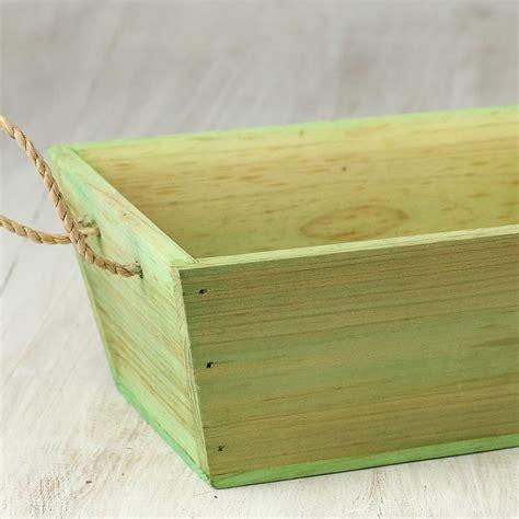 rustic green green rustic wood basket