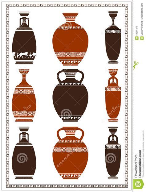 disegni vasi greci illustrazione dei vasi greci illustrazione vettoriale