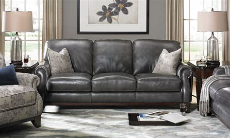 gray leather sofa gray leather sofa and chair gray
