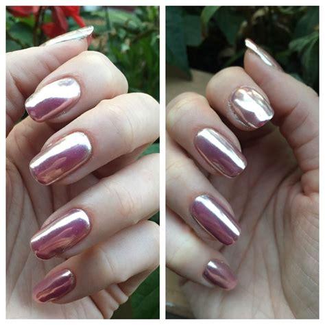 Gel Nail Salon gold chrome gel manicure on nails yelp