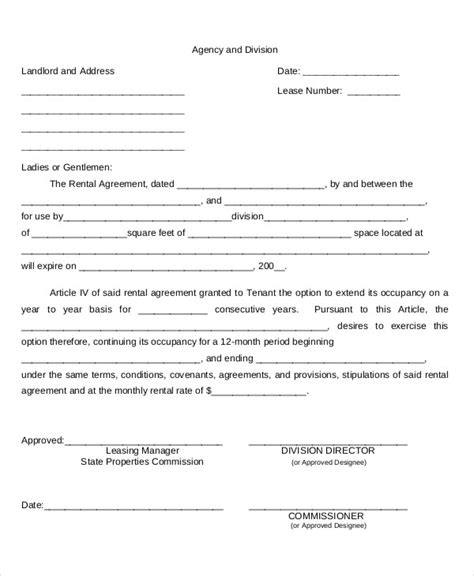business agreement renewal letter 28 images contract
