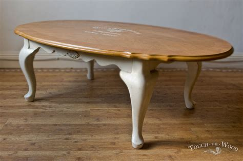 20140206 vintage shabby chic oval coffee table01 04