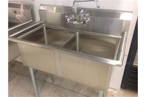2 compartment prep sink 2 compartment prep sink no drainboard overall dims 23 5