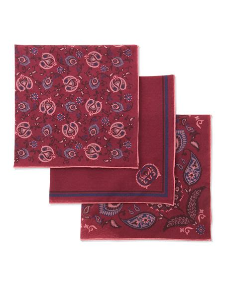 Gucci Pink Set gucci set of three pocket squares in box pink