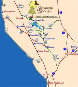 map of saratoga california california map