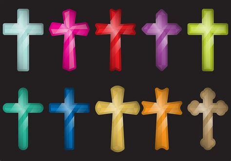 colorful crosses colorful crosses free vector stock