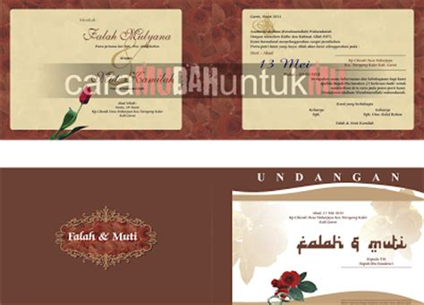 template undangan keren kumpulan template undangan pernikahan keren format cdr