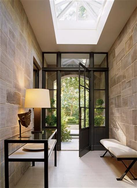 Contemporary Foyer Foyer Skylight Contemporary Entrance Foyer